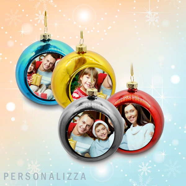 Pallina Natale Con Foto Digitale.Palline Natale Personalizzate
