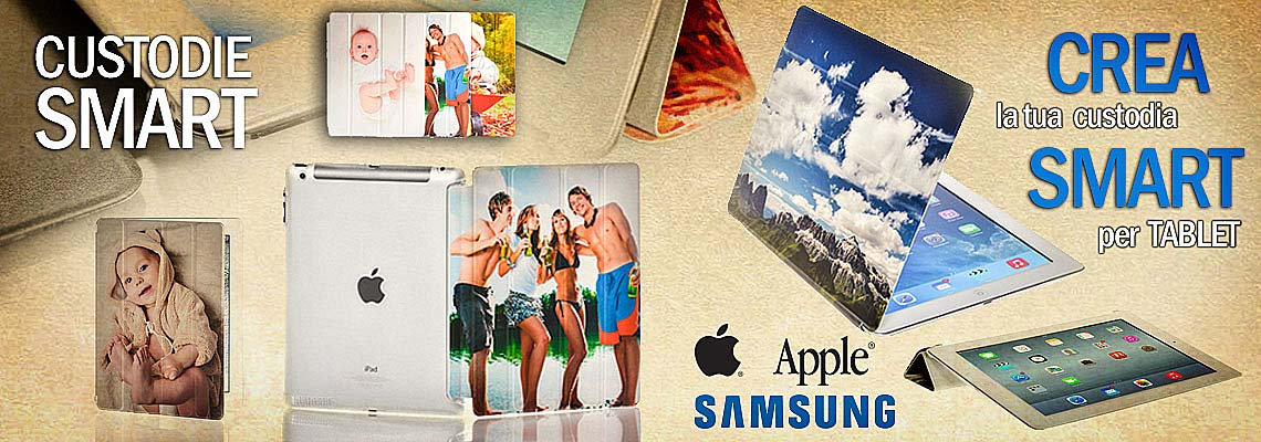 crea e acquista online un smart cover morbida personalizzata per il tuo Apple iPad o samsung galaxy Tab