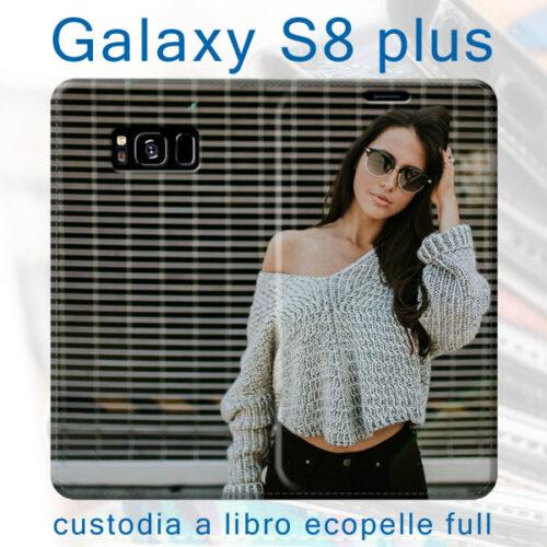 custodia libro personalizzata per Galaxy S8 plus