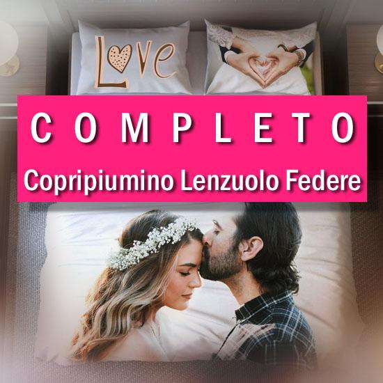 Copripiumino Matrimoniale Personalizzato.Completo Personalizzato Copripiumino Lenzuolo Federe Acdigitale