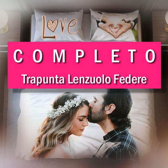 Copripiumino Matrimoniale Personalizzato.Completo Personalizzato Trapunta Lenzuolo Federe Acdigitale