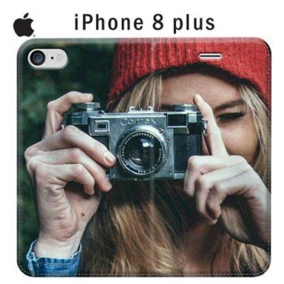 custodia a libro personalizzata per iPhone 8