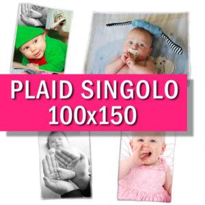 Plaid personalizzato singolo 100x150 cm
