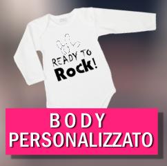 body personalizzato bambino a maniche lunghe