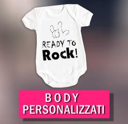 body personalizzato per bambino a maniche corte