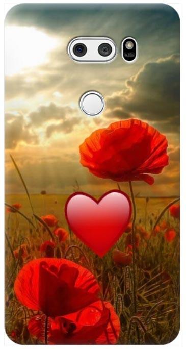 cover LG V30 con fiori personalizzata
