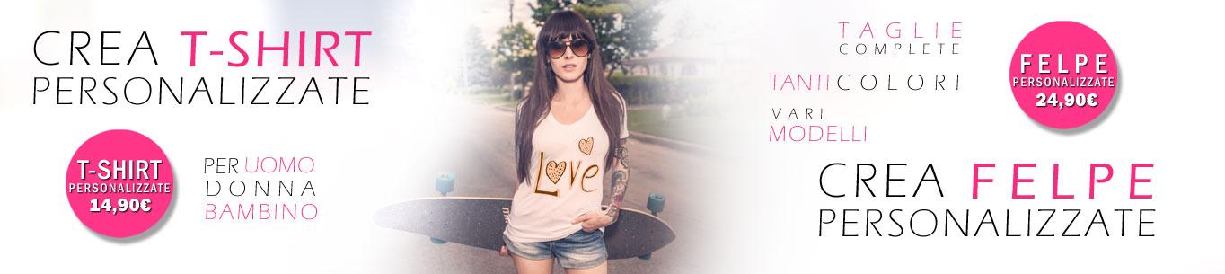 t-shirt, magliette e felpe personalizzate