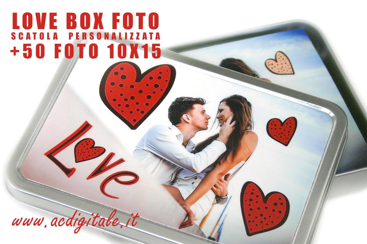 scatola personalizzata con fotografie