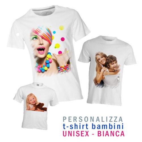 t-shirt personalizzata bianca per bambini