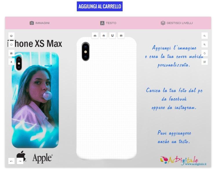cover-personalizzata-iPhone-XS-Max-programma-personalizzazione