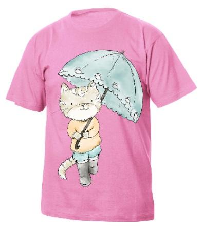 t-shirt colorata per bambini