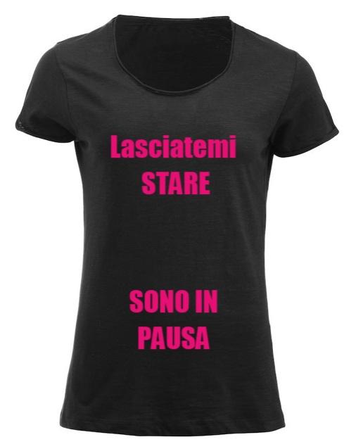 maglietta personalizzata nera con scritta