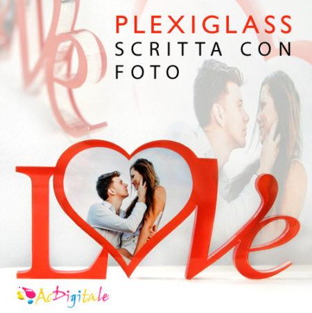 stampa scritta e foto su plexiglass