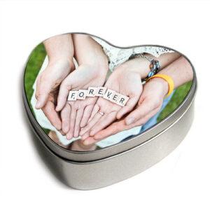 scatola cuore personalizzata latta