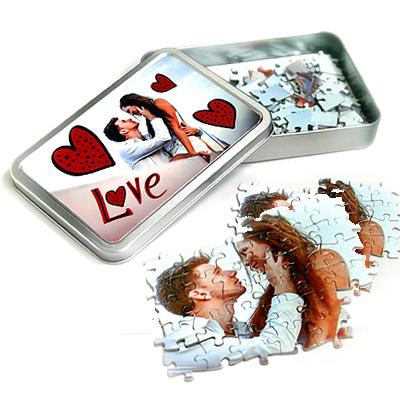puzzle con scatola personalizzata