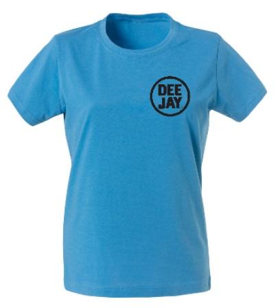 maglietta da donna colorata con loghi e grafiche