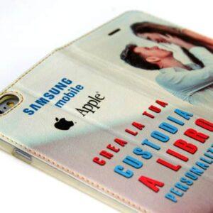 custodia al ibro personalizzata in ecopelle per cellulare