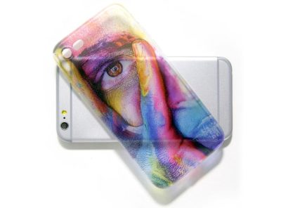 cover personalizzata trasparente per cellulare senza colore bianco