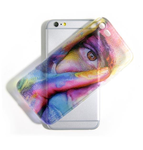 acquista una cover personalizzata trasparente per iPhone