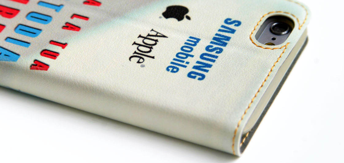 cover a libro per iphone e samsung