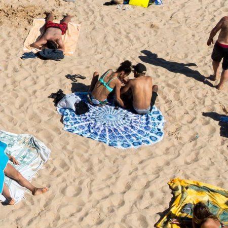 Telo mare rotondo asciugamano per spiaggia
