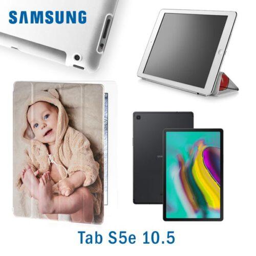 smart cover personalizzata tab S5e 10.5 in ecopelle