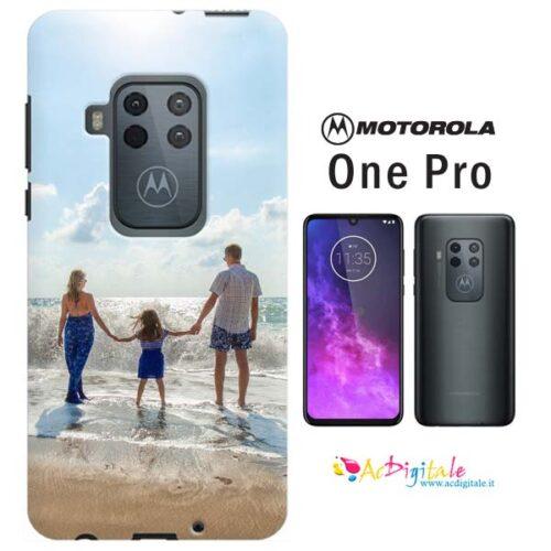 Cover morbide personalizzate per Motorola One pro con frasi e foto