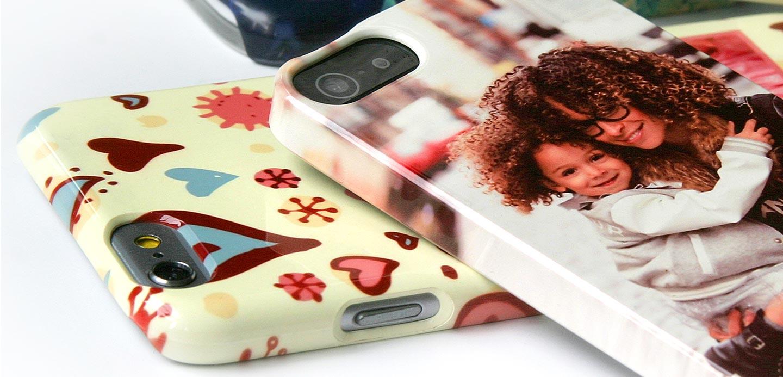 Cover personalizzata iPhone Xs lucida con stampa sui bordi