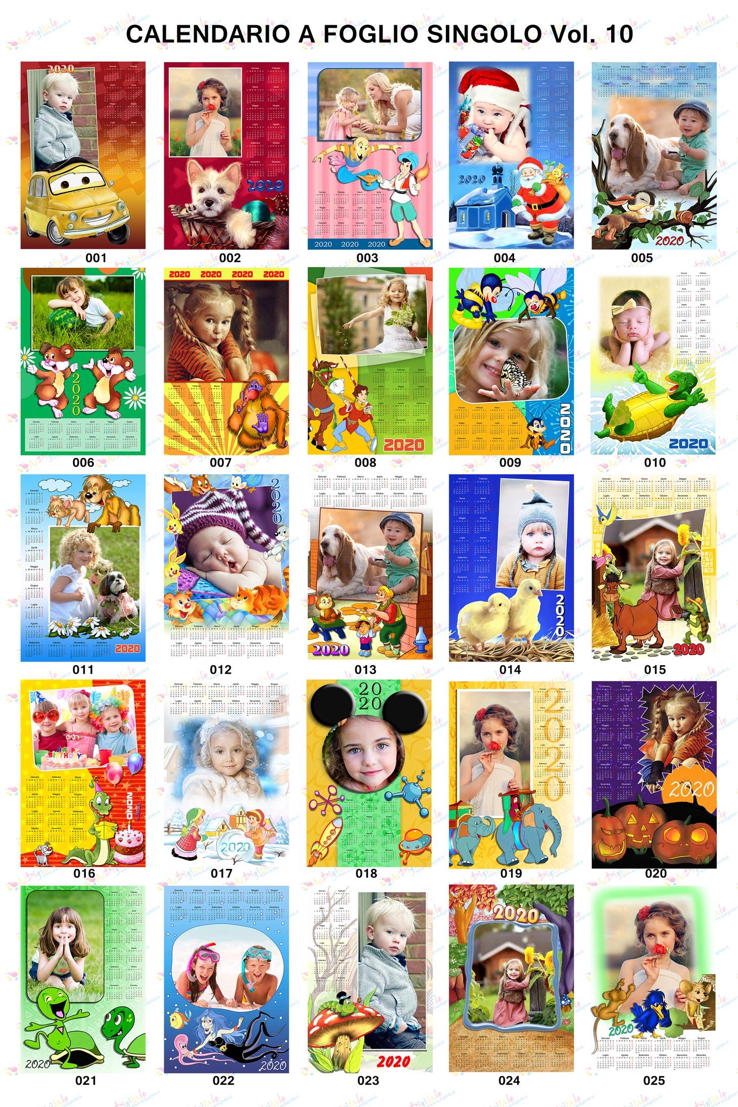 Anteprima calendari personalizzati 2020 Volume 10
