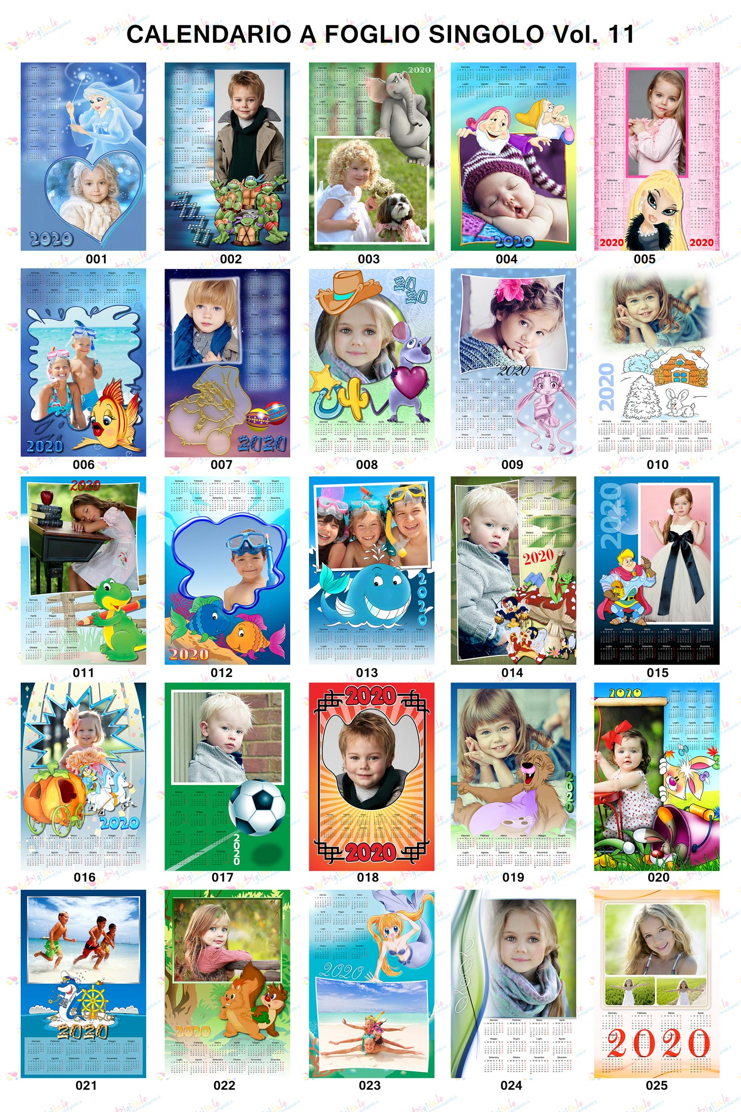Anteprima calendari personalizzati 2020 Volume 11