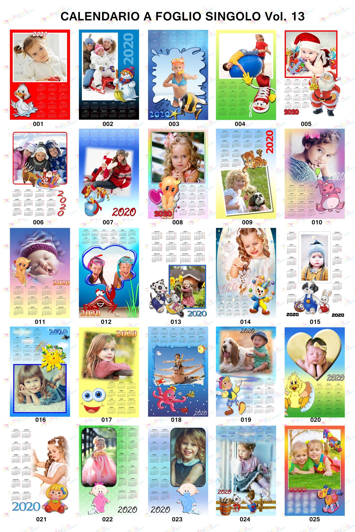 Anteprima calendari personalizzati 2020 volume 13