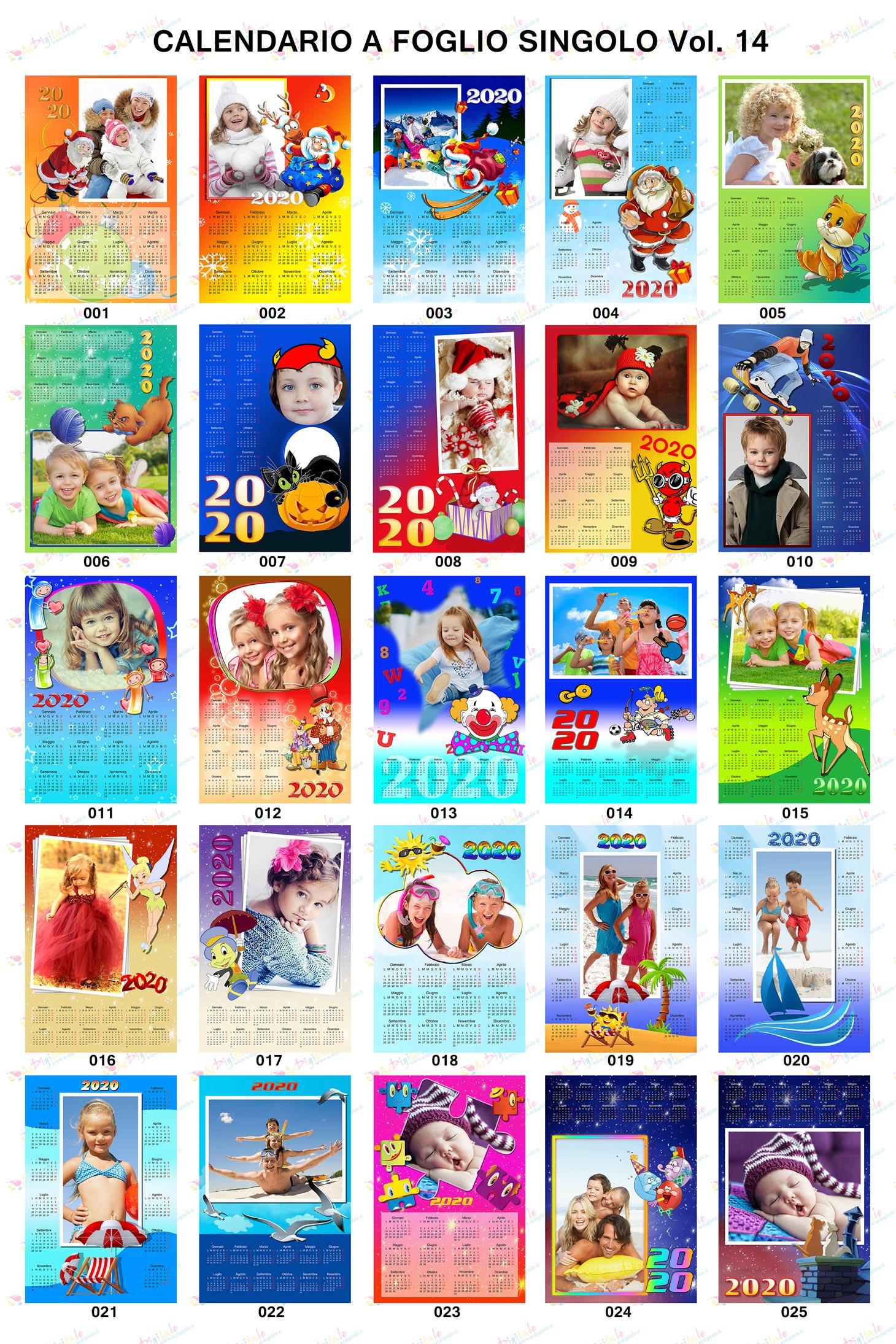 Anteprima calendari personalizzati 2020 volume 14