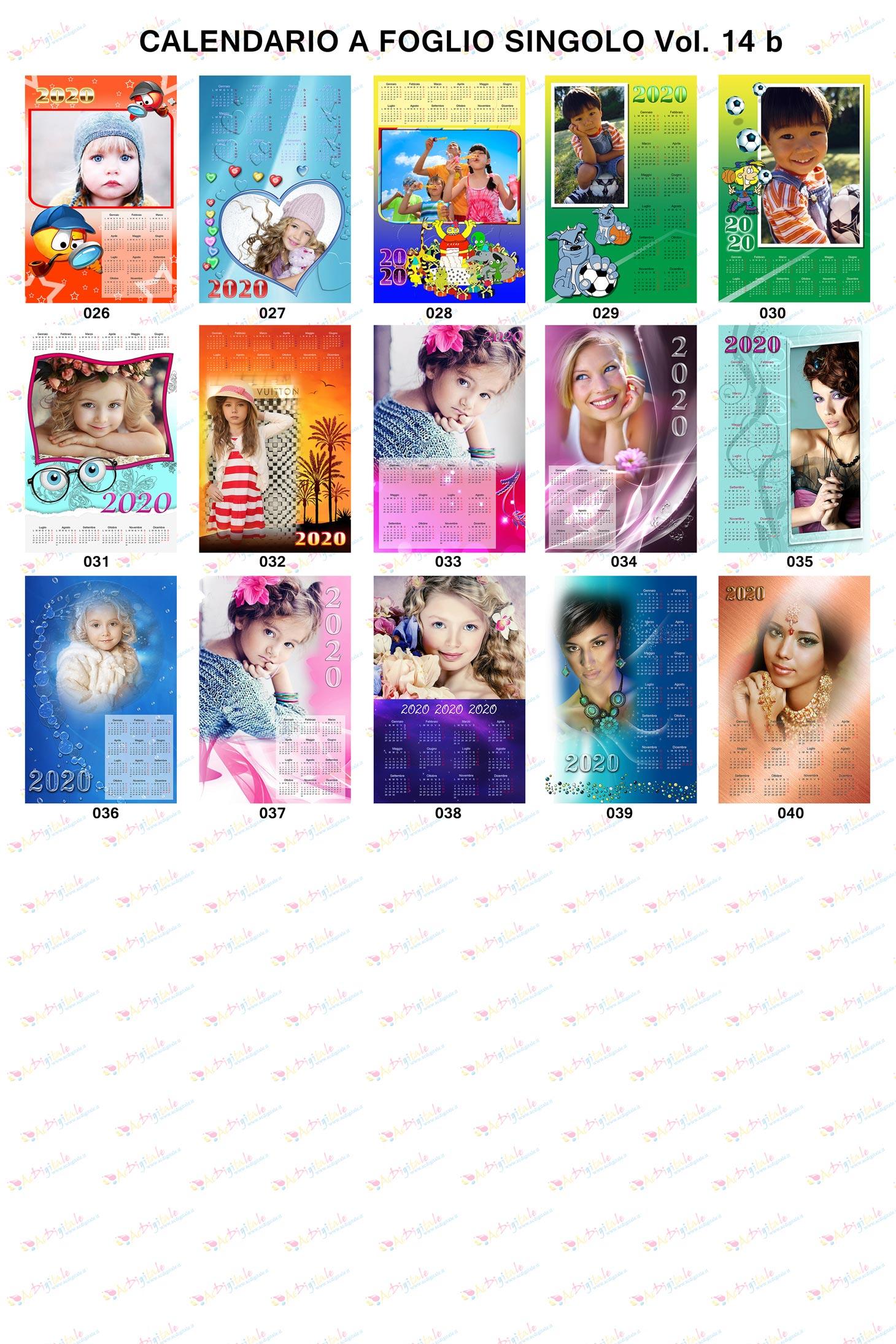 Anteprima Calendari Personalizzati 2020 Volume 14b