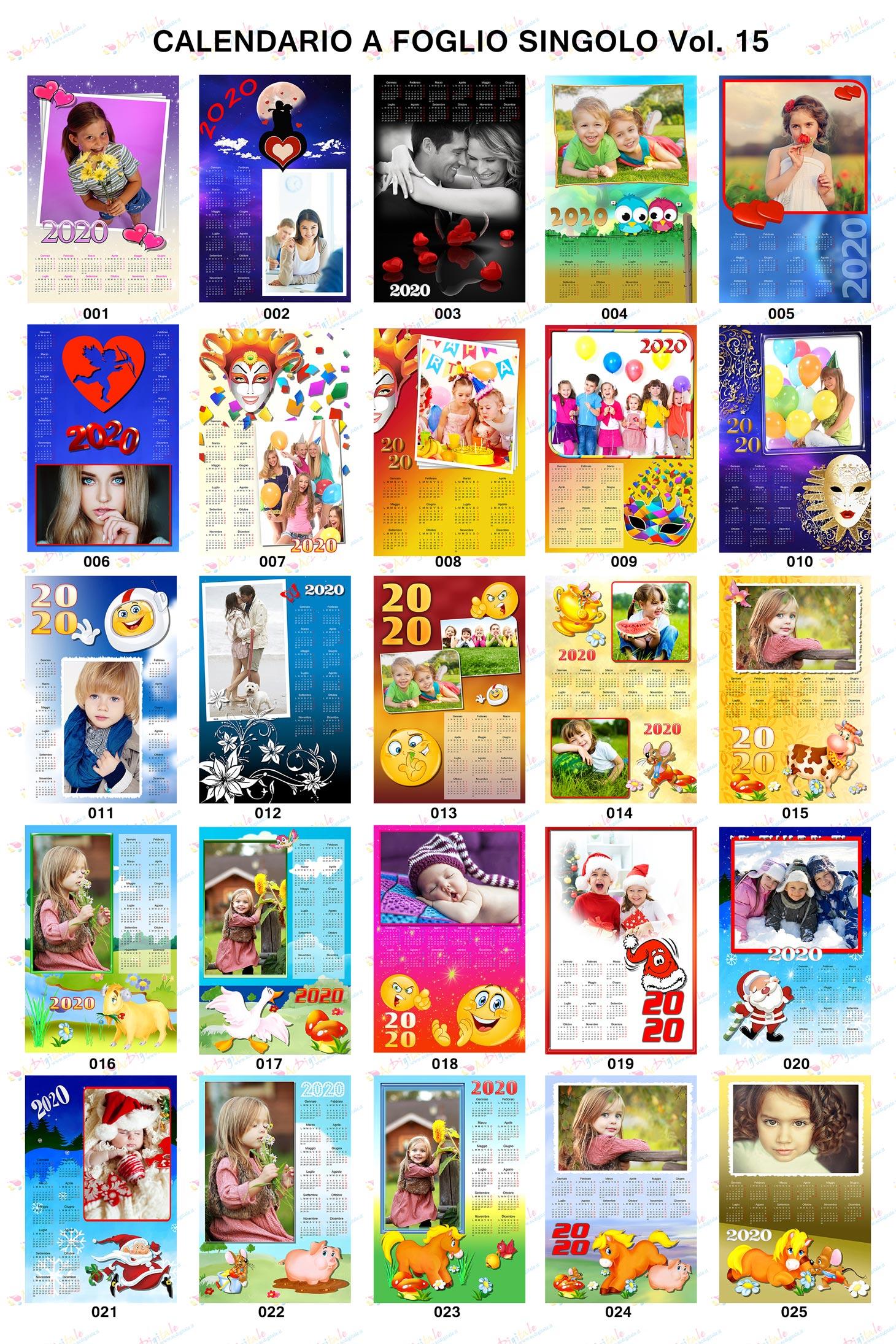 Anteprima calendari personalizzati 2020 volume 15
