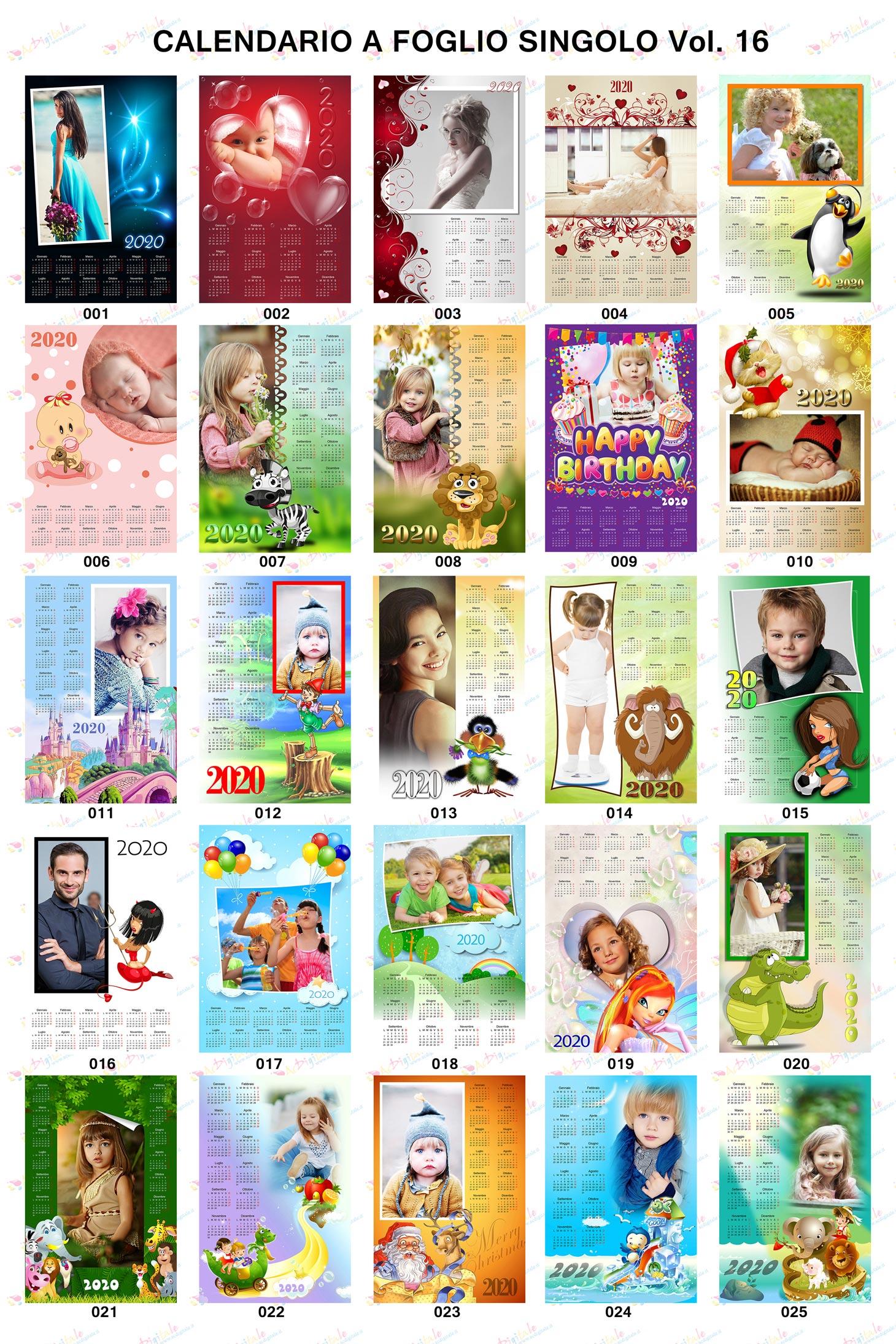 Anteprima Calendari personalizzati 2020 volume 16