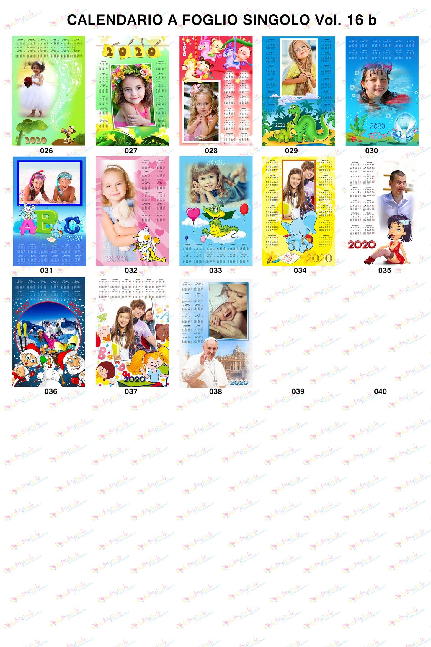 Anteprima calendari personalizzati 2020 volume 16b