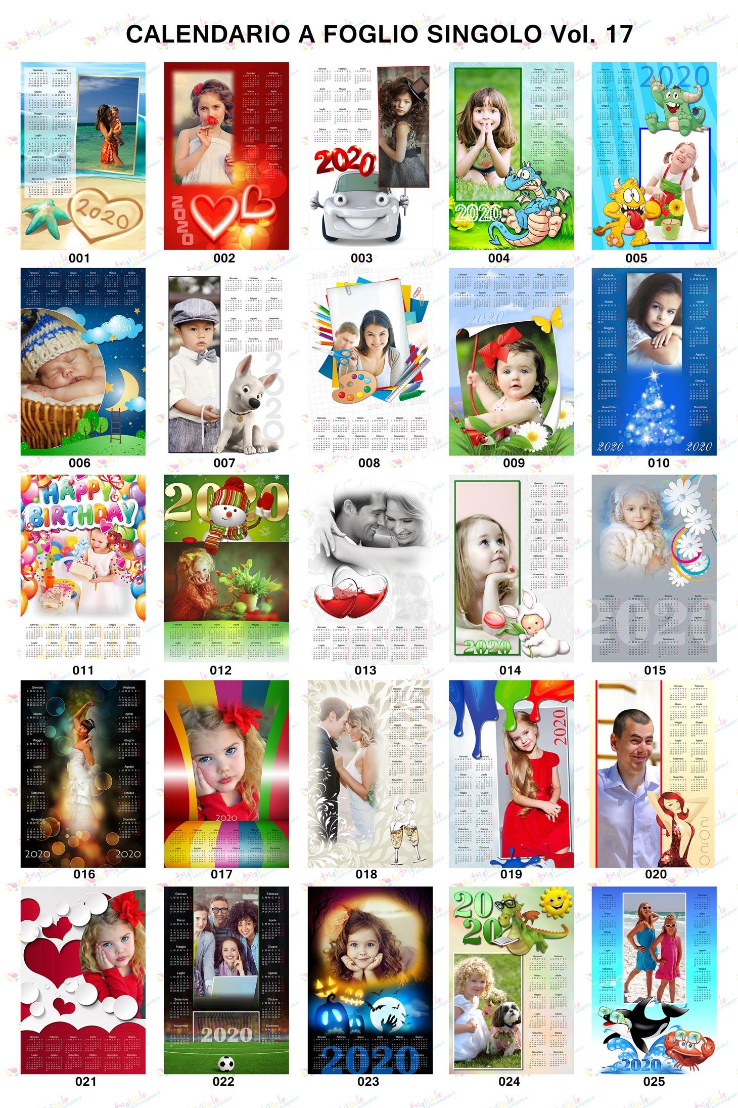 Anteprima calendari personalizzati 2020 volume 17