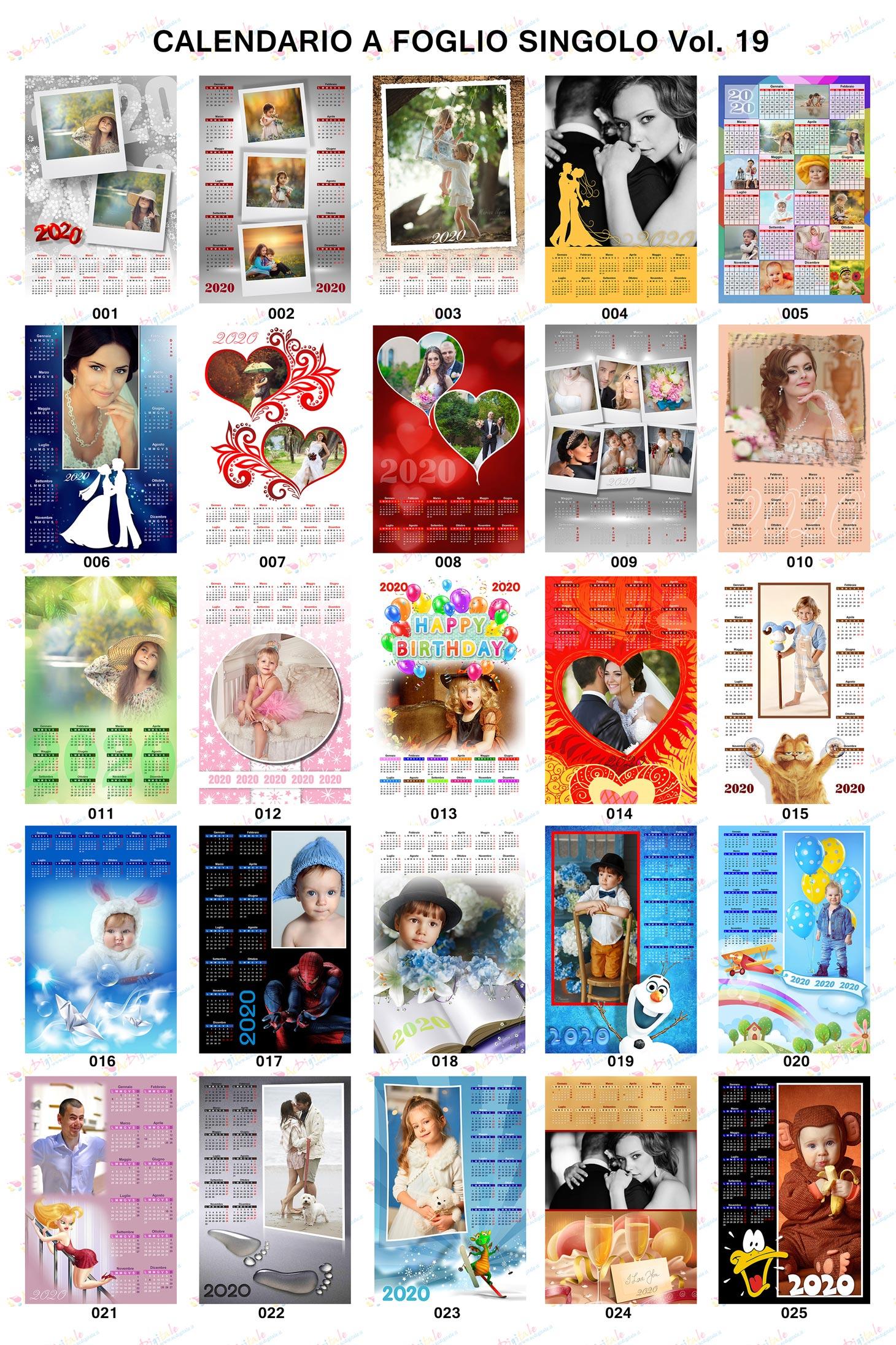 anteprima calendari personalizzati 2020 volume 19