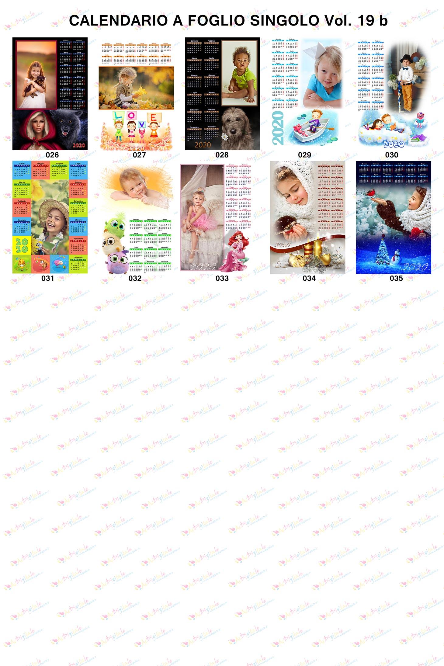 Anteprima Calendari personalizzati volume 19b