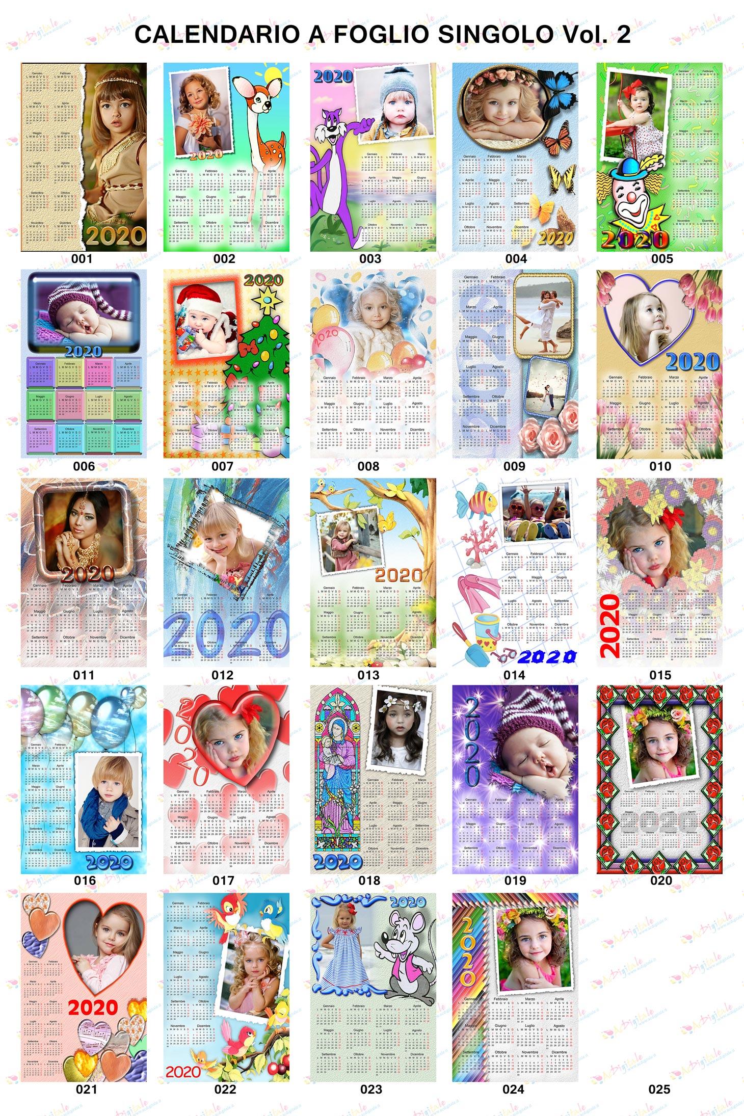 Anteprima calendari personalizzati 2020 volume 2
