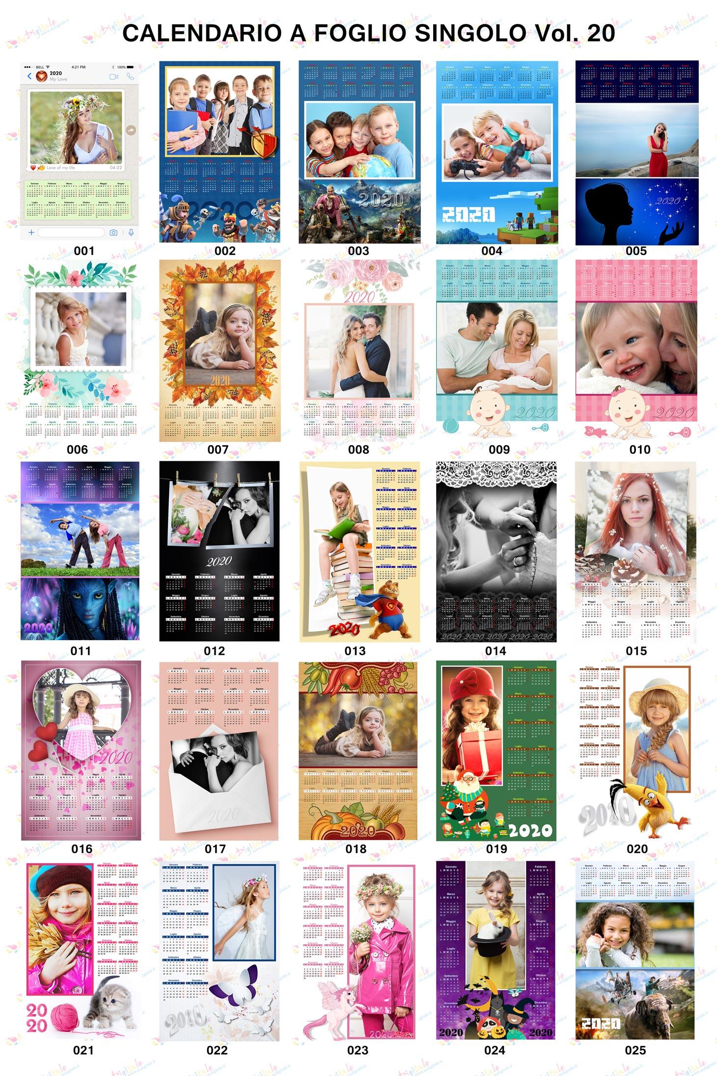 Anteprima calendari 2020 volume 20