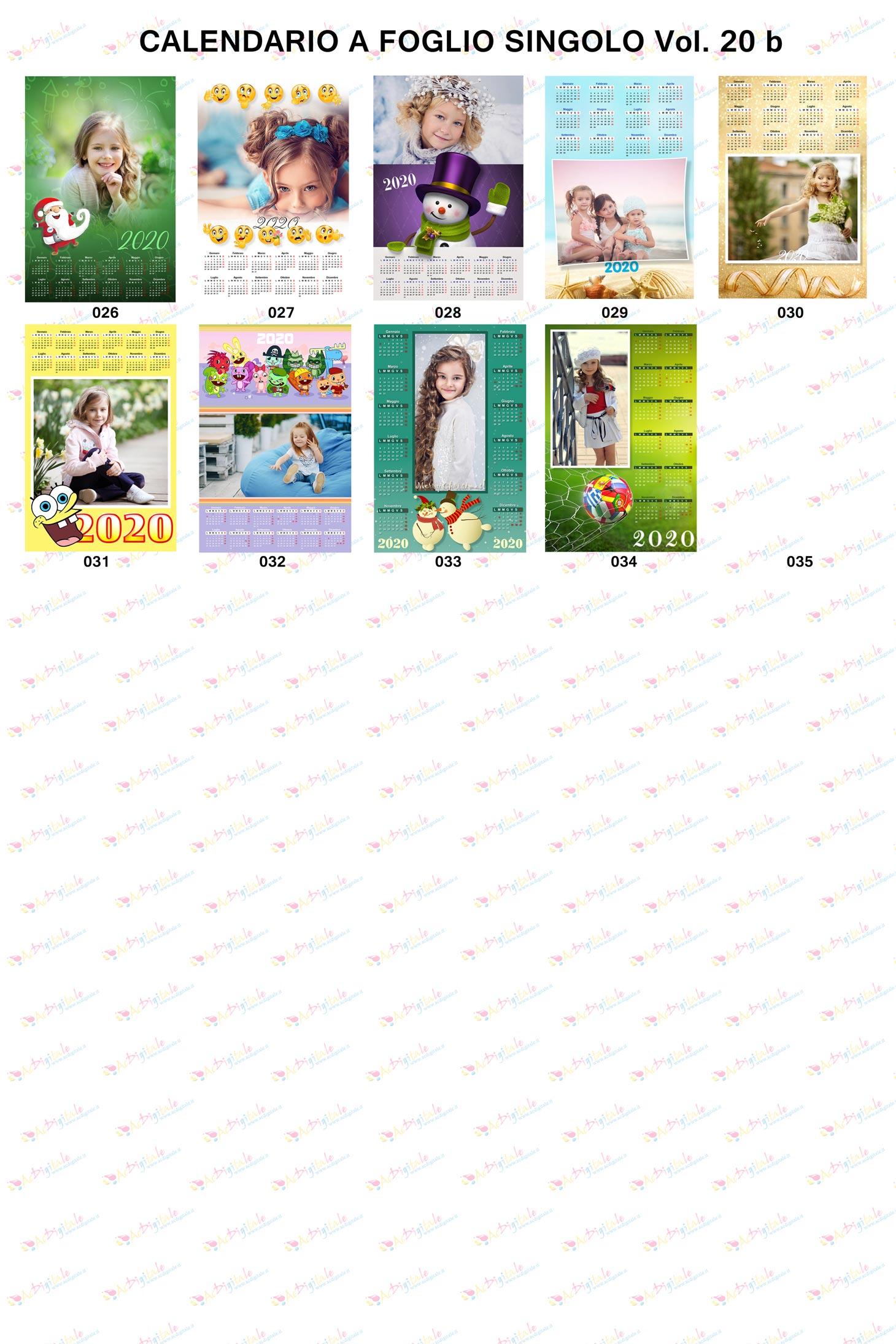 Calendari personalizzati 2020 volume 20b