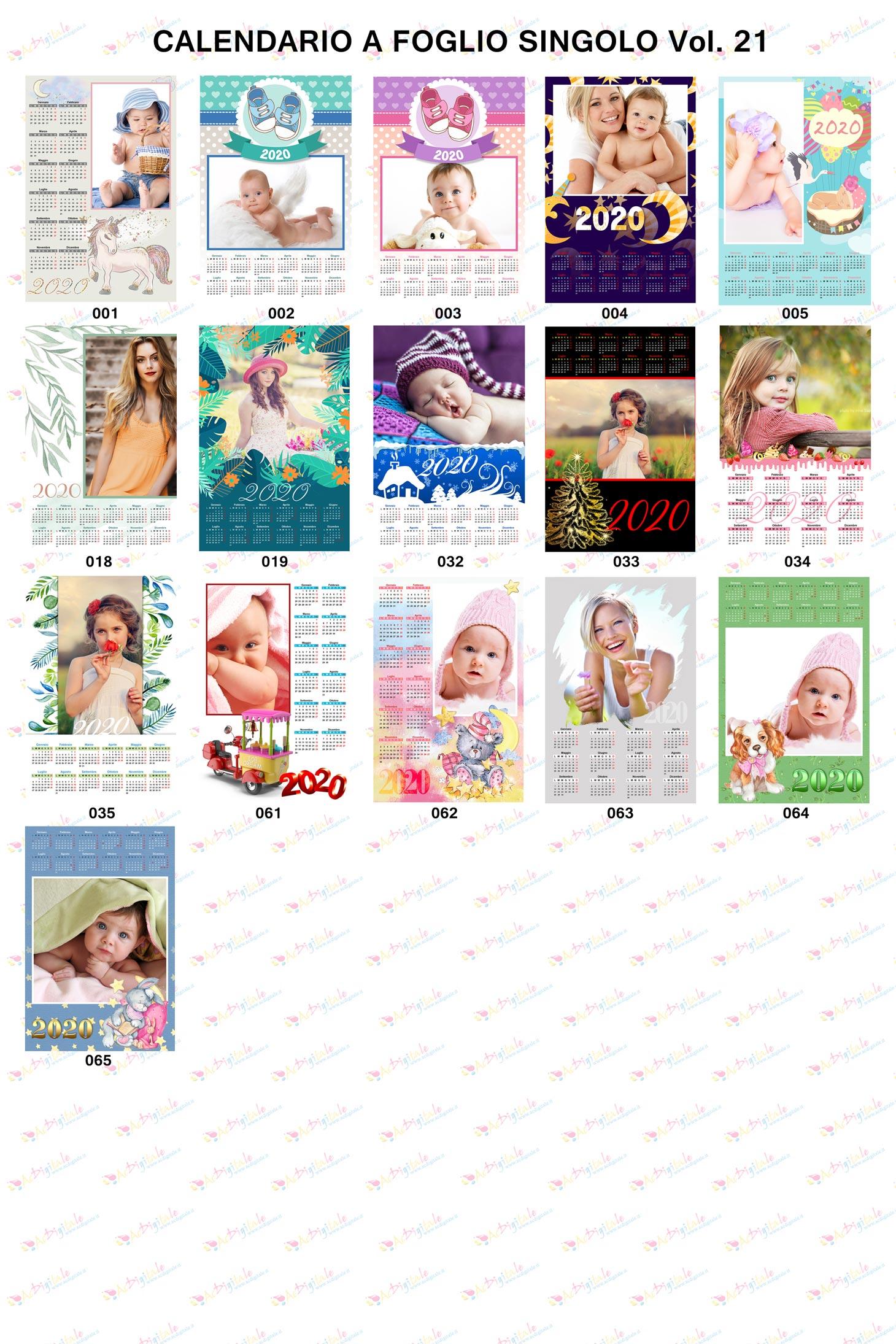 Anteprima calendari personalizzati 2020 volume 21