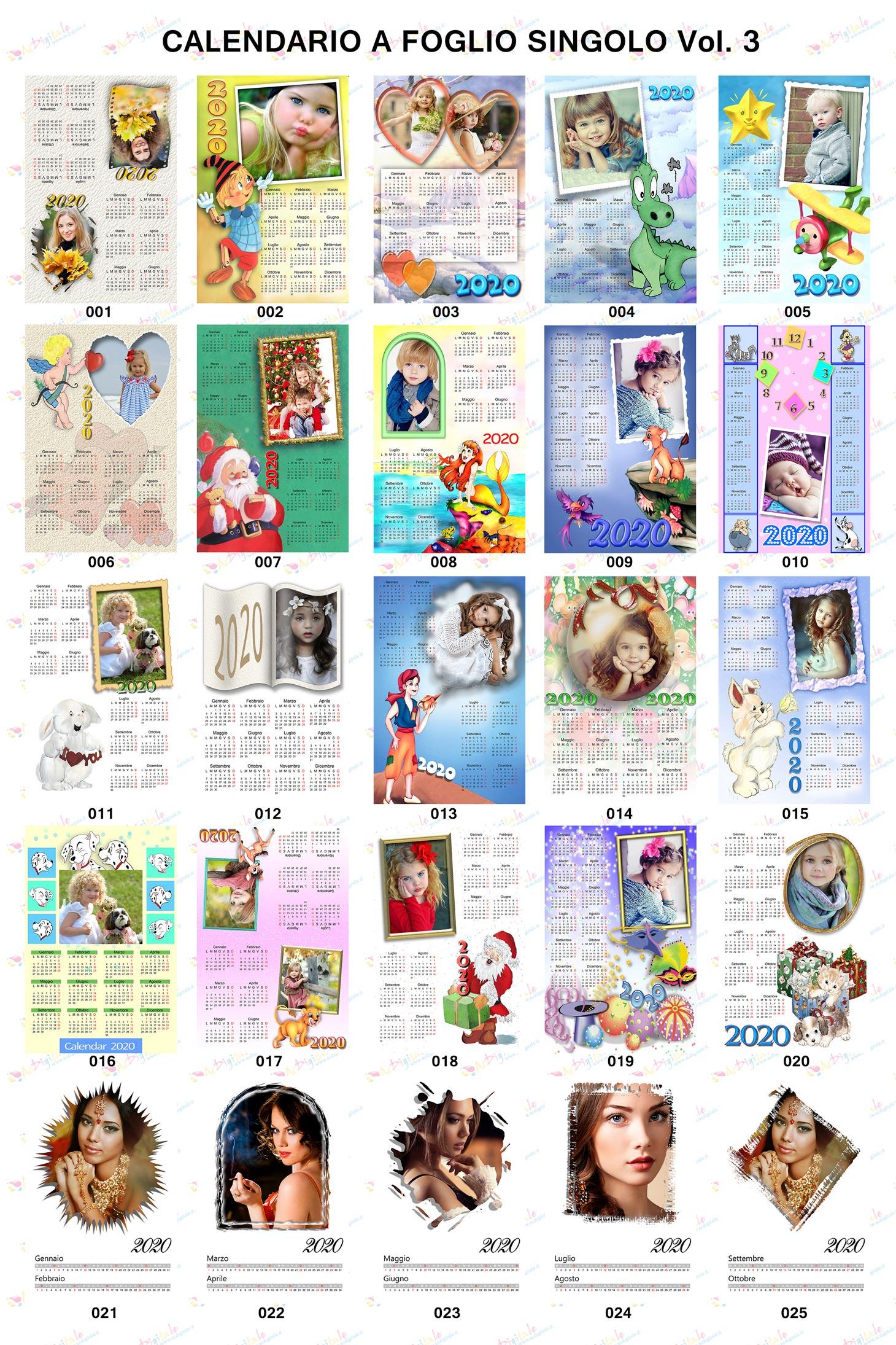Anteprima Calendari personalizzati 2020 Volume 3