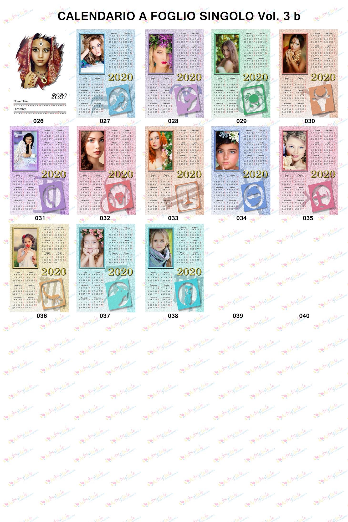 Anteprima Calendari personalizzati 2020 Volume 3b