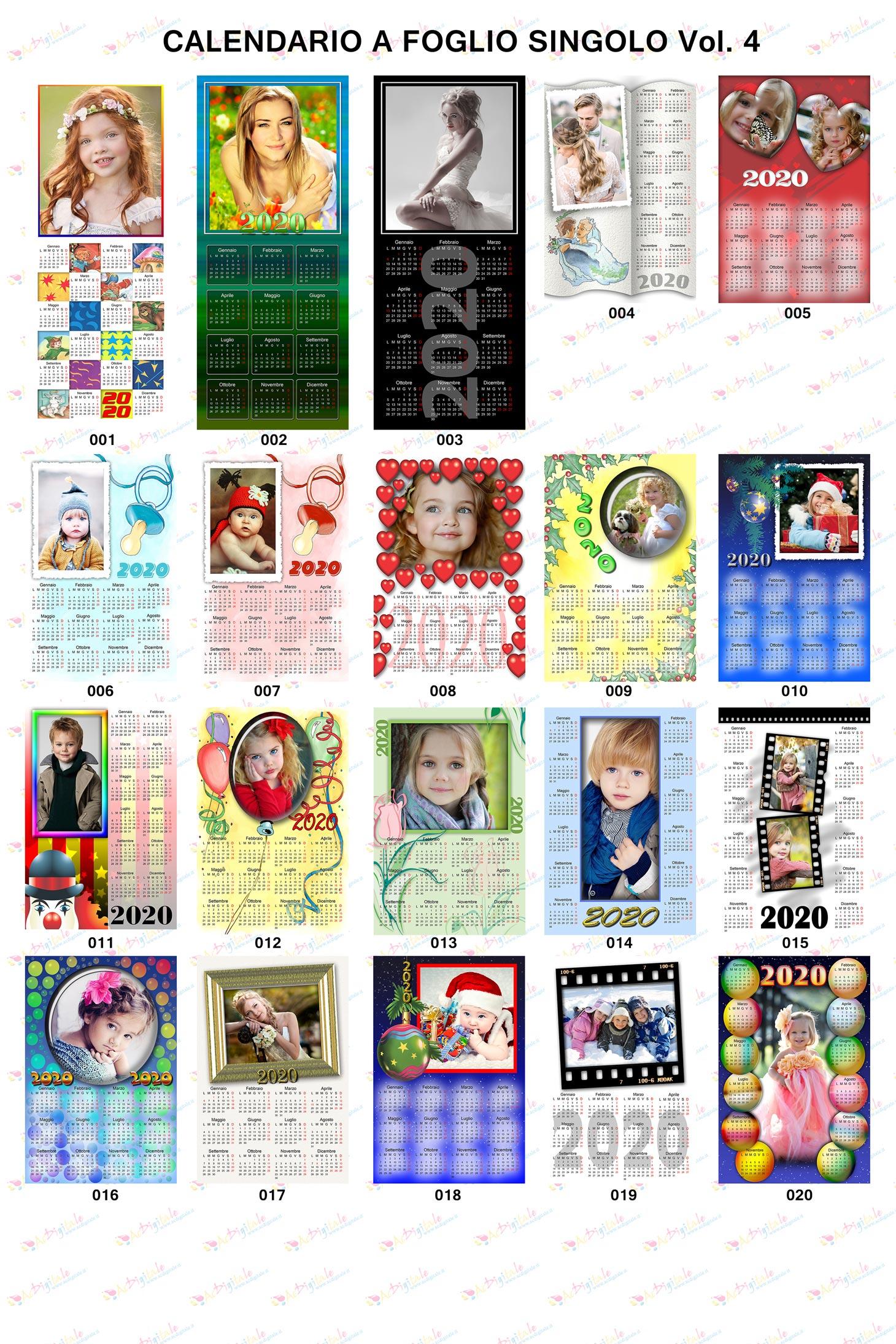 Anteprima calendari personalizzati 2020 Volume 4