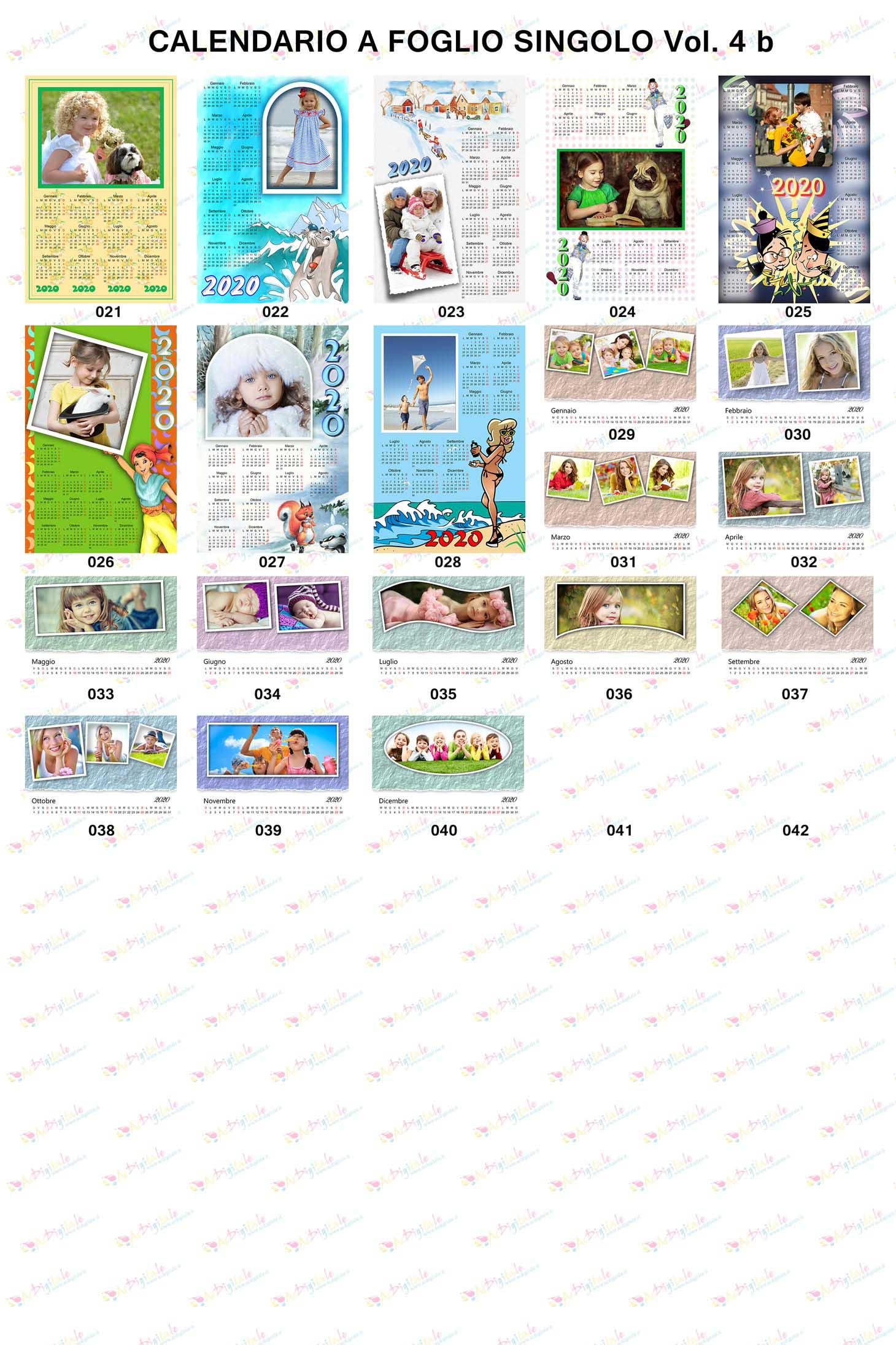 Anteprima calendari personalizzati 2020 volume 4b