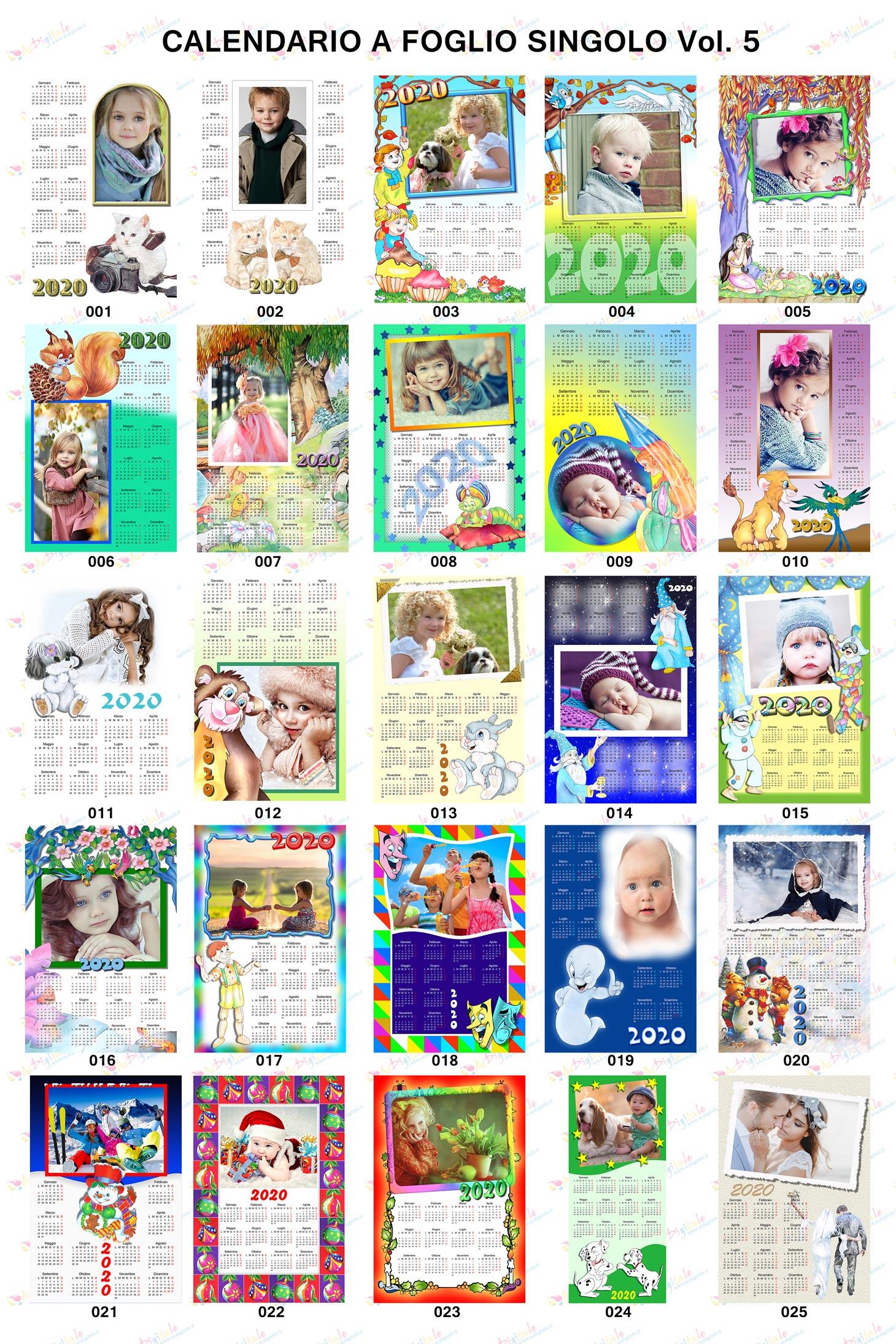 Anteprima calendari 2020 volume 5