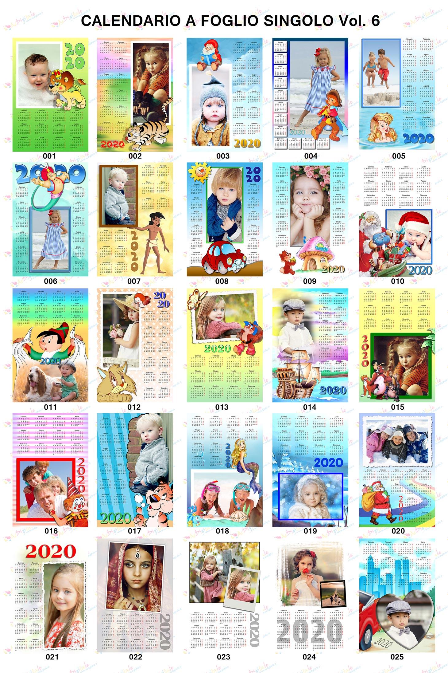 Anteprima calendari personalizzati 2020 volume 6