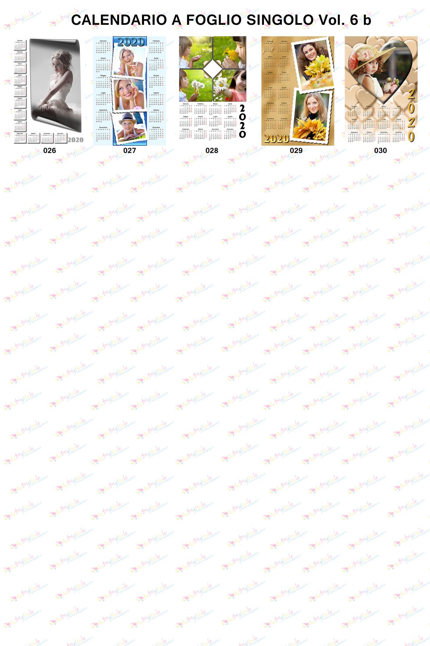 Anteprima calendari personalizzati 2020  volume 6b